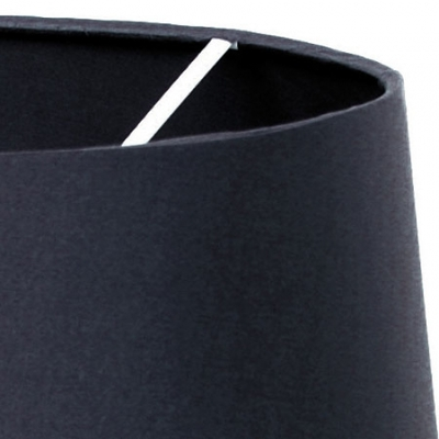 Tapered Drum Shade in Charcoal Silk