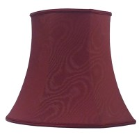 Square End Oval Lampshade Burgundy Moire - Imperial Lighting