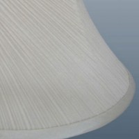 Twisted Pleat Lamp Shade Cream - Imperial Lighting