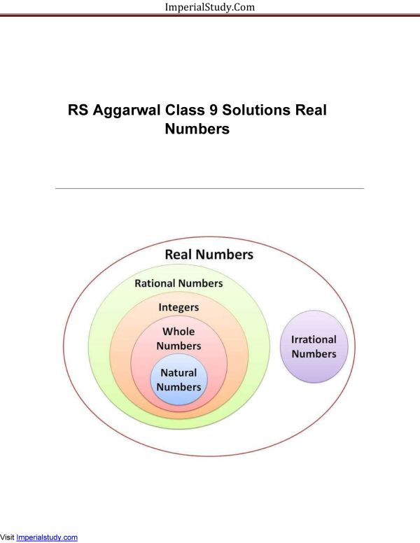 number systems rs aggarwal solution class 9th maths