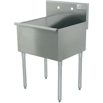 floor mount utility sink 1 bowl stainless 36 l x 24 1 2 w x 41 h