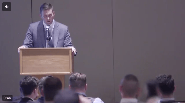"Here's alt-right leader Richard Spencer leading a ""Hail Trump"" rally"