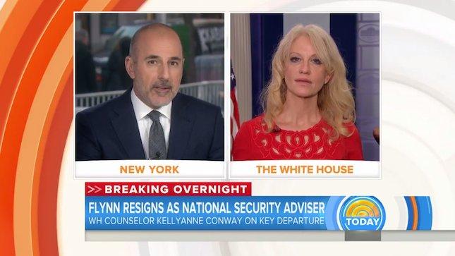 """Matt Lauer to Kellyanne Conway: """"That makes no sense"""" (VIDEO)"""