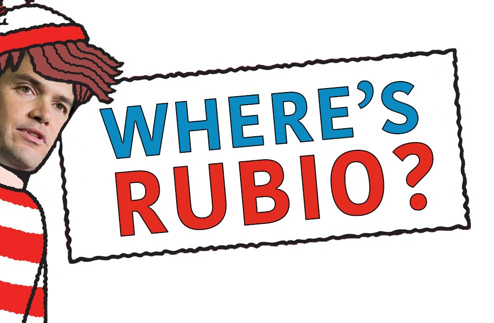 WATCH Marco Rubio run for his safe space