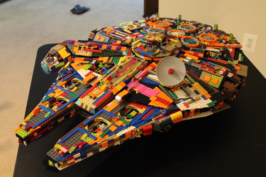 Improvising when you need that Lego Millennium Falcon but don't have the cash