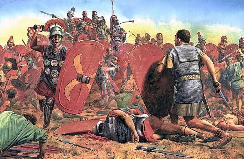 Soldados peleando en la guerra civil.