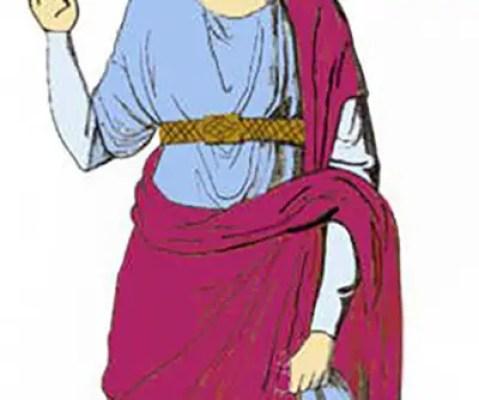 Mujer con tunica y un patagium.