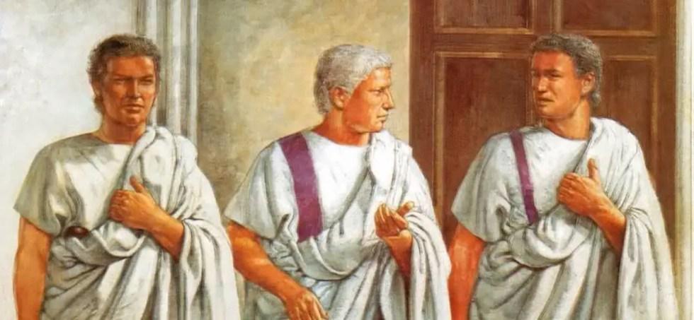 Ilustración de Marco Aurelio y sus guardaespaldas, los Speculatores Augusti.