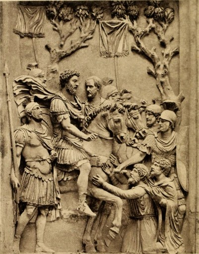Relieve de Marco Aurelio y sus guardias.