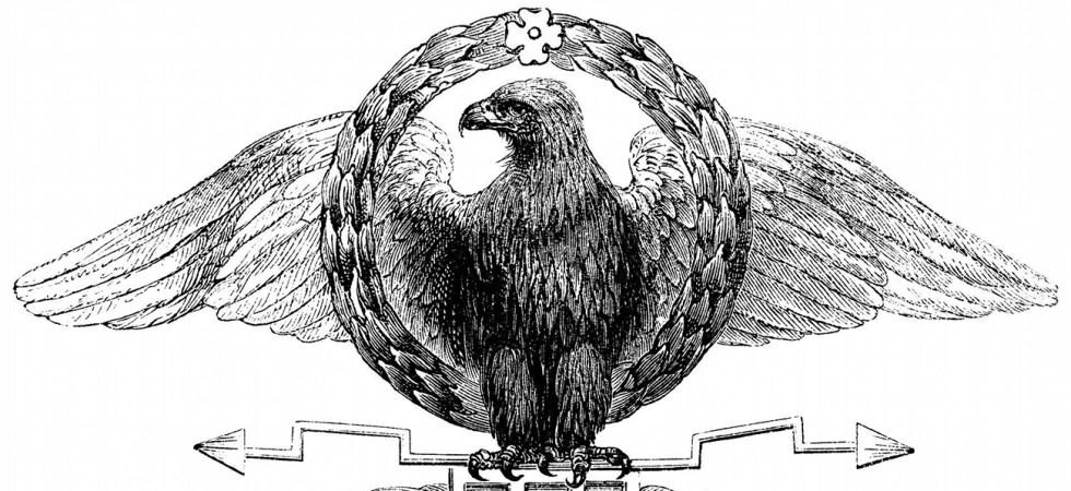 Ilustración del águila romana adoptado durante las reformas de Mario.