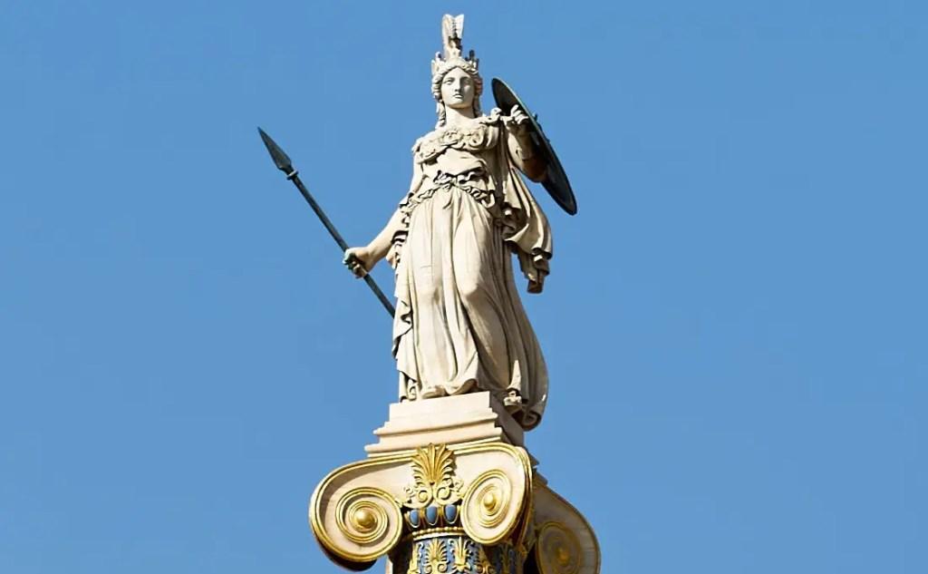Fotografía de la estatua Atenea Promacos.