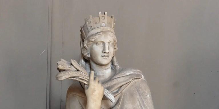 Tique, la diosa griega del destino. Conocida como Fortuna por los romanos