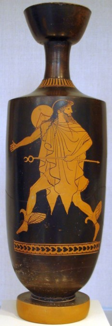 Fotografía de una vasija de Hermes.