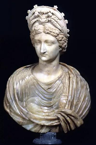 Fotografía del busto de Livia Drusilla.
