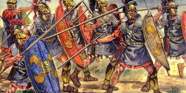 Los escudos de los legionarios de la República romana