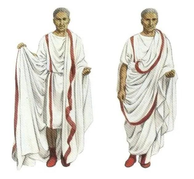 Ilustración de un senador romano.