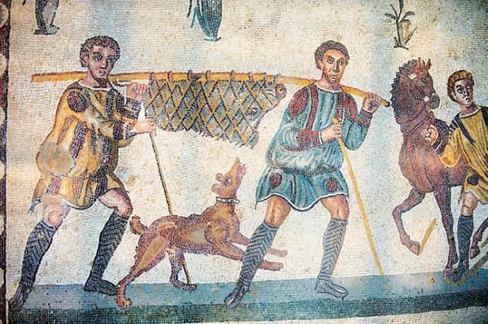 Imagen de un grupo de cazadores.