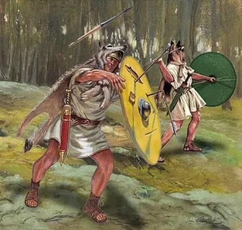 Velites en batalla