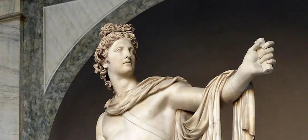 Estatua de Apolo, uno de los dioses más venerados por los griegos y los romanos.