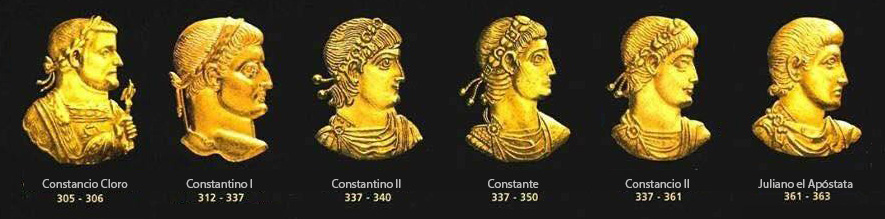El rostro de los emperadores romanos de la dinastía Constantiniana