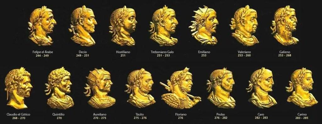 Emperadores romanos del tercer siglo.