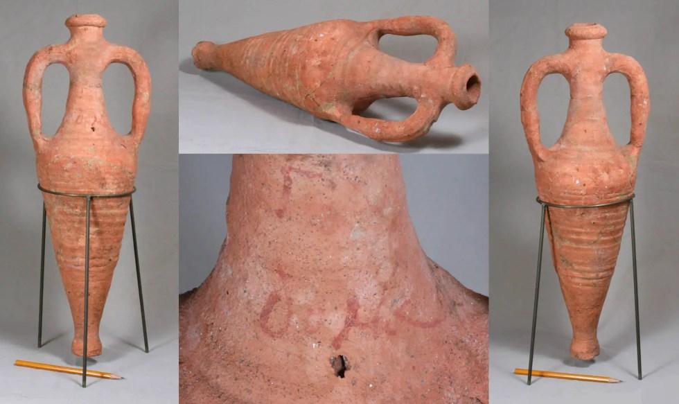 Ánfora romana de finales del siglo III y principios del siglo IV.
