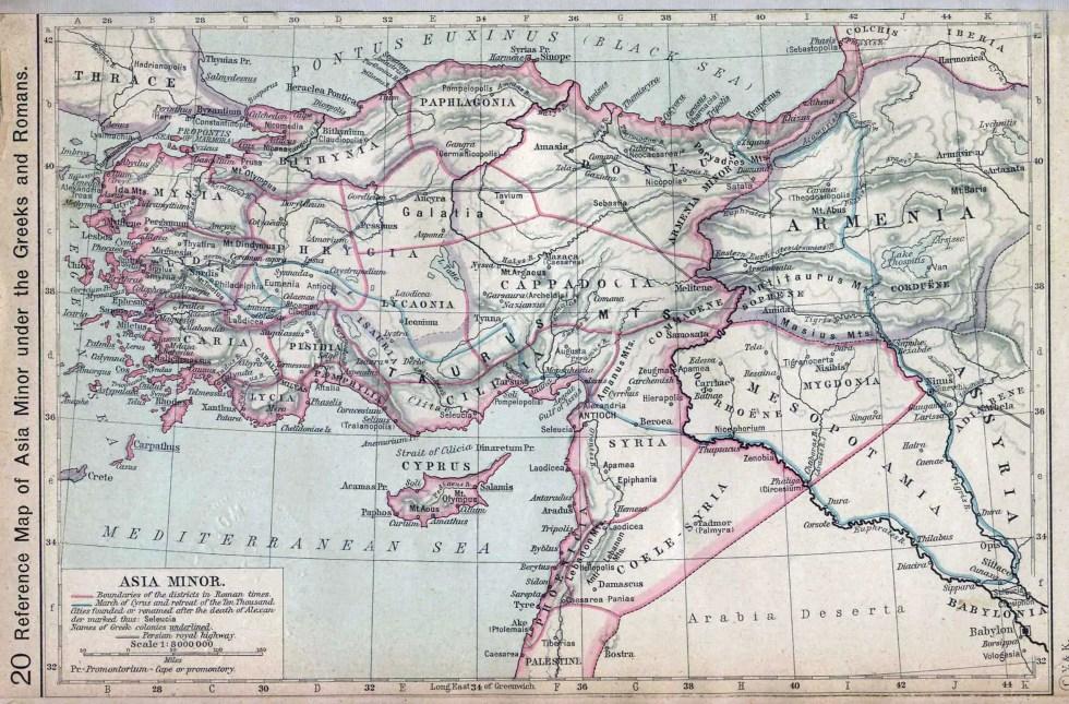 Asia Menor bajo domino romano y griego.