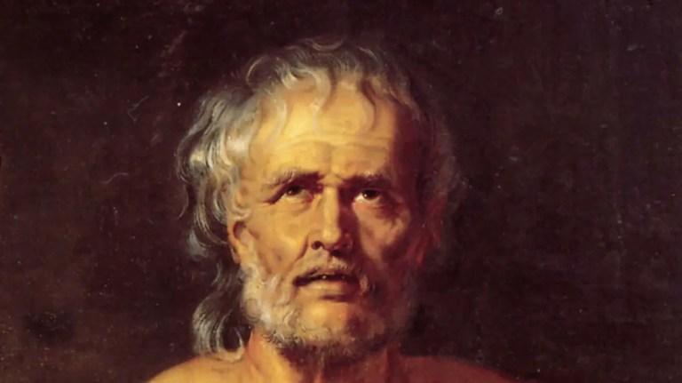 Pintura de Seneca, el autor de los tratados morales.