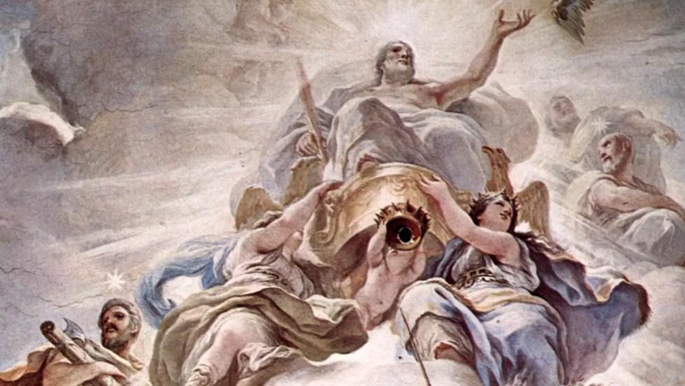 Pintura de los doce dioses olímpicos.