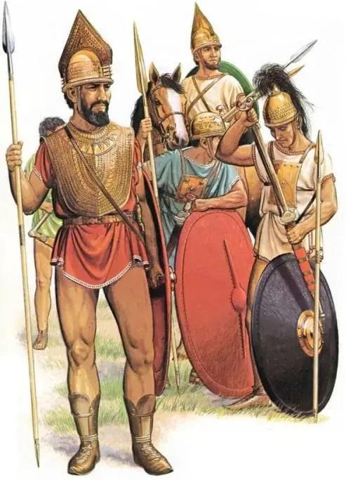 Soldados romanos del siglo VIII a. C.