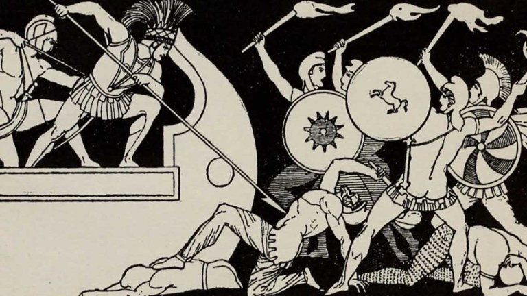 Ilustración relacionada a La Ilíada.