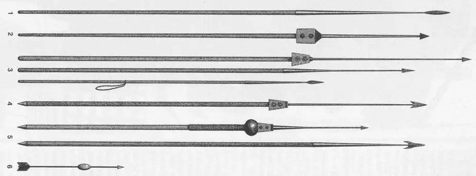 Evolución del pilum de la jabalina pilum a lo largo del tiempo.