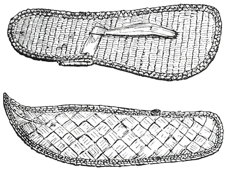 Sandalias de fibra vegetal denominadas baxae.