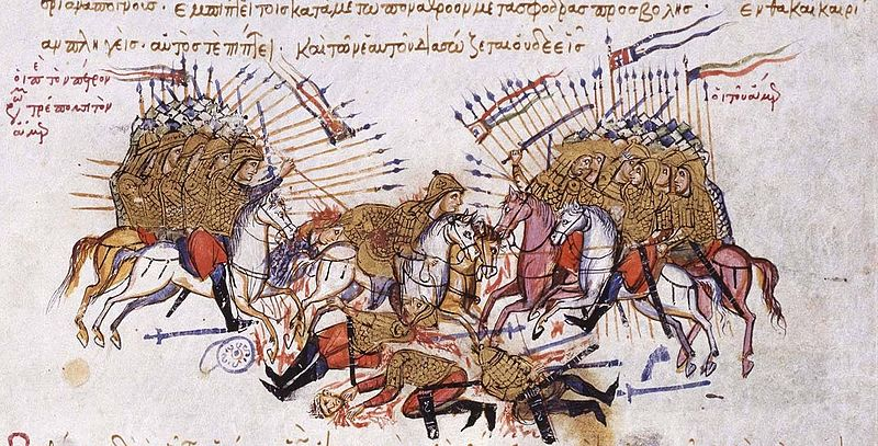 Fighting_between_Byzantines_and_Arabs_Chronikon_of_Ioannis_Skylitzes,_end_of_13th_century.