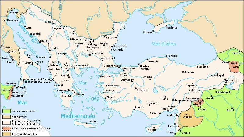 mappa impero