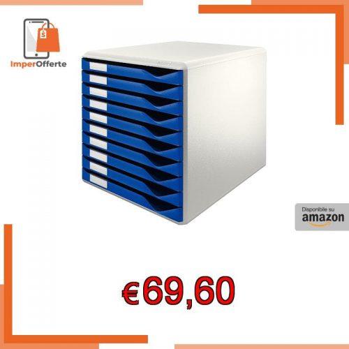 📍 LEITZ 5281 Cassettiera – 10 cassetti – Blu – 52810035