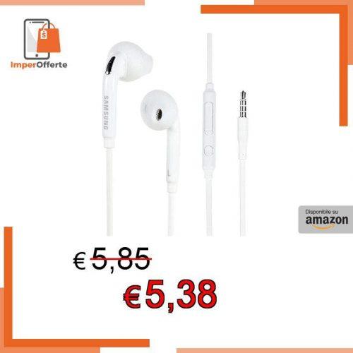 SAMSUNG EG920 Premium in Ear Cuffie Stereo per EO eg920bw Galaxy S3 I9300 Cavo Piatto Bianco