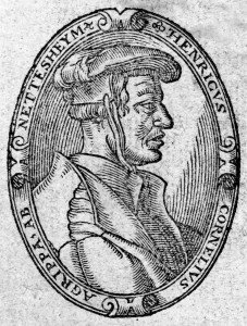 Heinrich Cornelius Agrippa von Nettesheim was a German magician, occult writer, theologian, astrologer, and alchemist