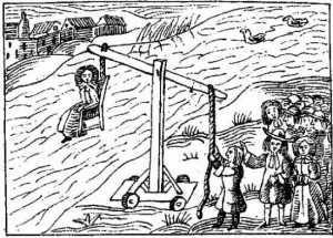 Favored test for guilt at Salem Witch Trials was another form of water torture.
