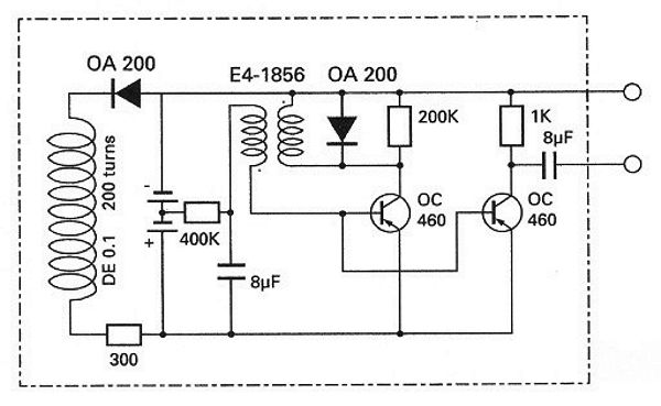 Circuit schematic diagram of the first implantable pacemaker developed by Dr. Rune Elmqvist