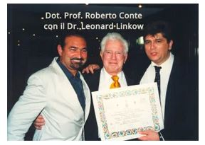 Dr. Leonard Linkow con Dott Prof Roberto Conte
