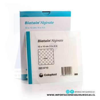 Apósito Biatain Alginato 10x10cm Coloplast