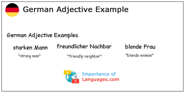 German Adjective Example