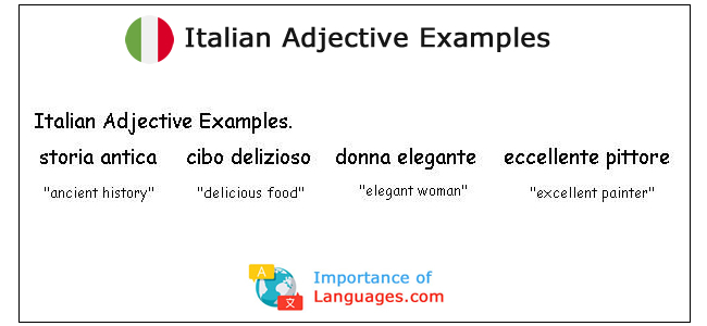 Italian Adjective Examples
