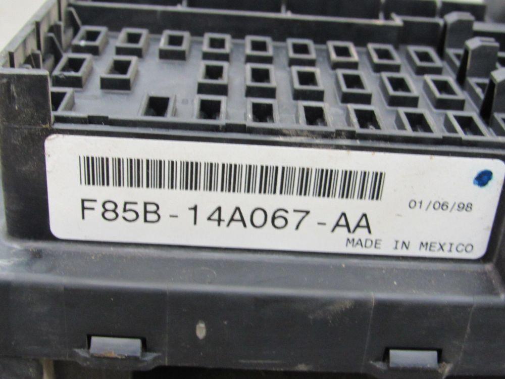 medium resolution of 97 98 ford f150 interior dash fuse box junction relay block f85b 14a067 aa m