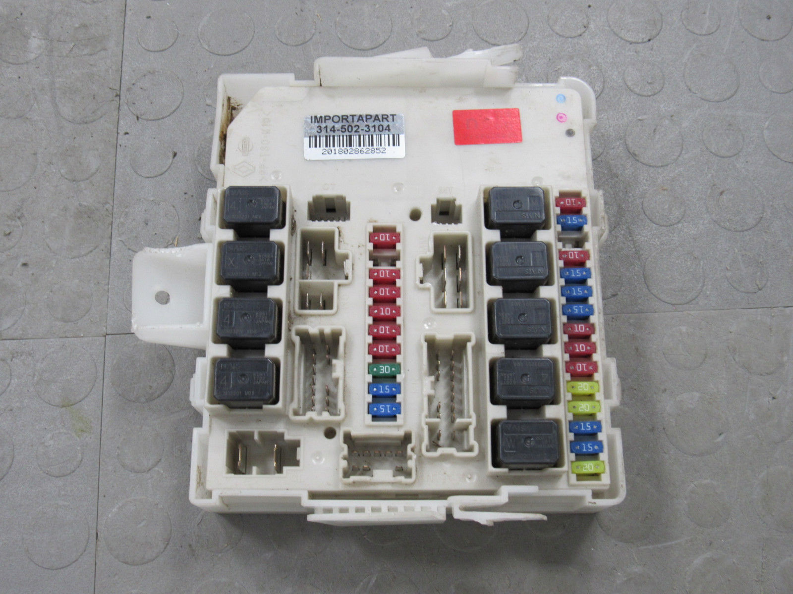 hight resolution of 07 09 titan armada xterra qx56 ipdm bcm body module fuse box 284b6 ze00c