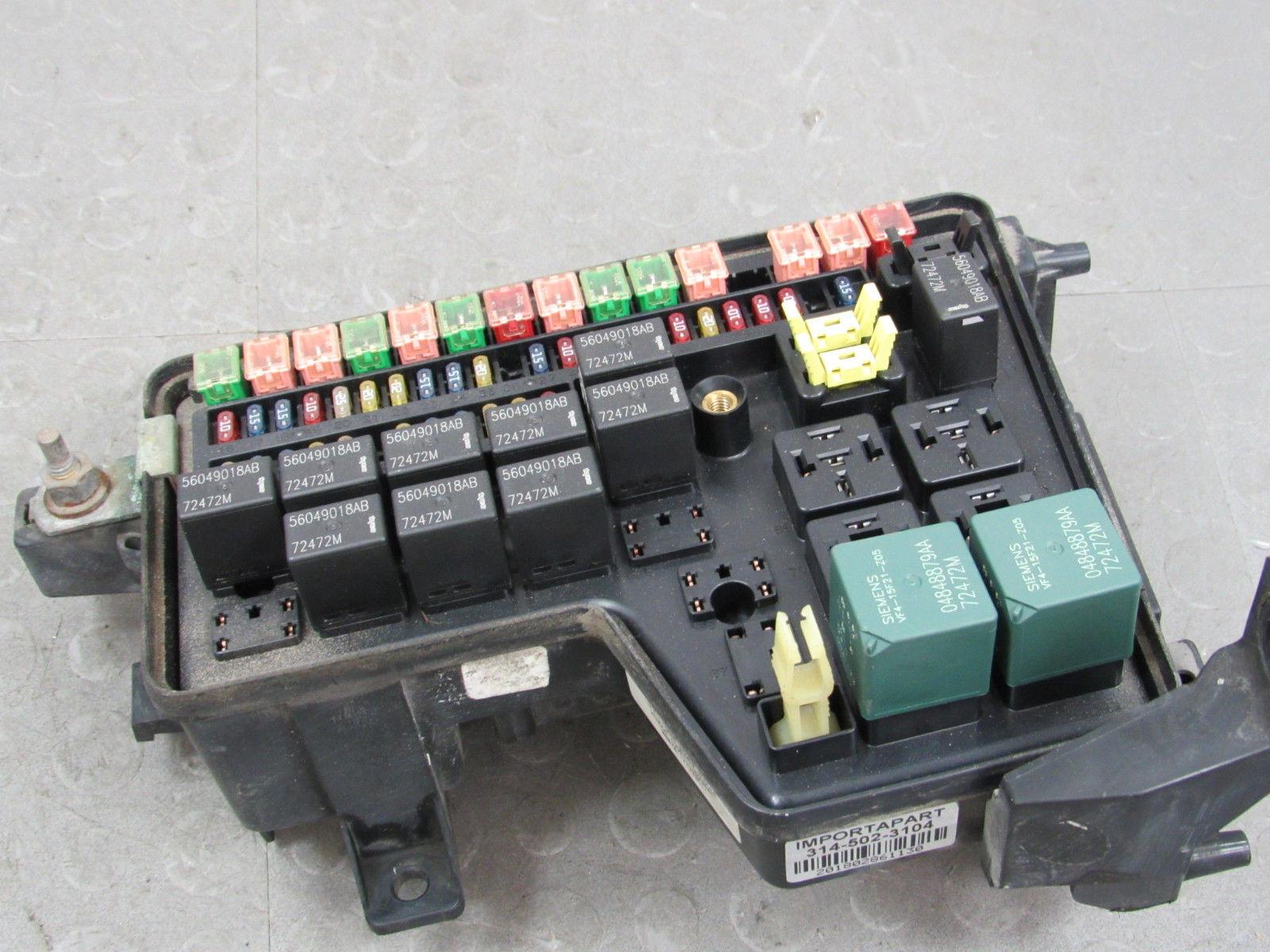 hight resolution of 02 03 dodge ram integrated power distribution module fuse box 56049011af eg