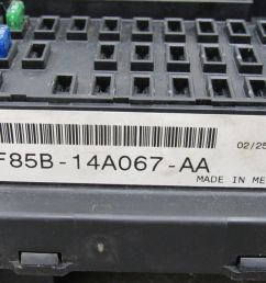 97 98 ford f150 interior dash fuse box junction relay block f85b 14a067  [ 1600 x 1200 Pixel ]