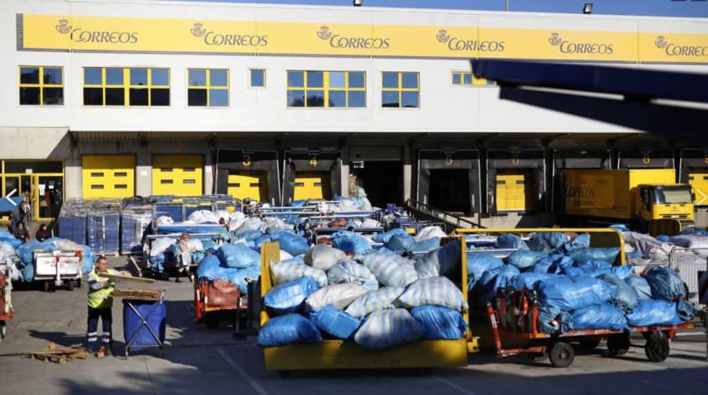 Centro Logistico de Correos en Barajas.