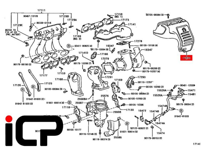 Toyota Celica ST205 GT4 Genuine Turbo Heat Shield 17271-88480